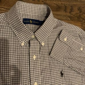 Ralph Lauren plaid button up dress shirt